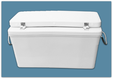 Picture of 2″ Set Back Ice Chest 55 qt - 18″*x17x33″ 1/2 Moon